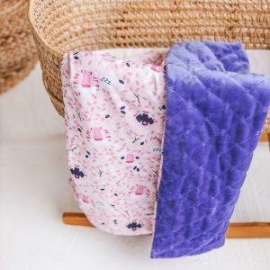 warm baby blanket purple