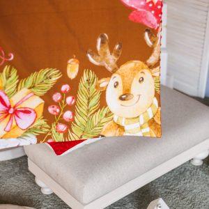 kalėdinis pledukas Rudolfas