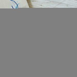 dovanų dėžutė su zuikiu