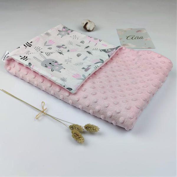 pink minky blanket