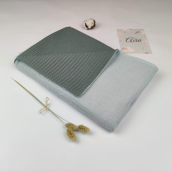 muslin cotton green 1
